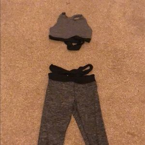 Grey and black cross cross athletic set